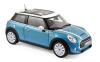 MINI Cooper S 2015 - Electric Blue metallic & White